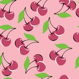 Seamless cherry background Stock Photo