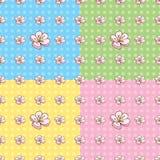 Seamless Cherry Blossom Pattern Stock Photo