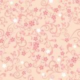 Seamless cherry blossom pattern stock illustration