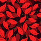 Seamless of Cherry leaves Royalty Free Stock Photo