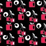 Seamless cherry modern geometric pattern Royalty Free Stock Photos