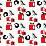 Seamless cherry modern geometric pattern Stock Images