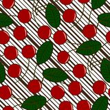 Seamless cherry pattern Royalty Free Stock Image