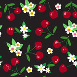 Seamless cherry pattern Royalty Free Stock Photo