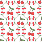 Seamless cherry pattern, fruit background Royalty Free Stock Photos