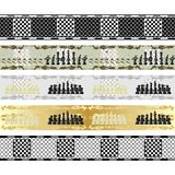 Seamless chess patterns Royalty Free Stock Image
