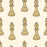 Seamless chessman king. Seamless texture with brown chess of king Stock Photography