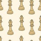 Seamless chessman king Stock Photography