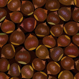 Seamless chestnut background Royalty Free Stock Images