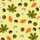 Seamless chestnuts wallpaper Stock Images
