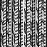 Seamless chevron abstract hand drawn pattern. Vector illustration with chevron lines and vertical lines. stock illustration