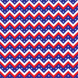 Seamless chevron American flag colored Royalty Free Stock Photography
