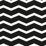 Seamless chevron black and white  pattern. Stock Images