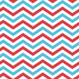 Seamless Chevron Pattern in Blue, Red, and White Royalty Free Stock Image
