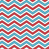 Seamless Chevron Pattern in Blue, Red, and White Stock Image