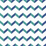 Seamless chevron  pattern. Colorful blue and green zig zag on white background. Royalty Free Stock Photos