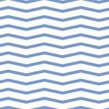 Seamless chevron pattern. Colorful blue zig zag on white background. royalty free stock photos