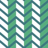 Seamless chevron  pattern. Colorful light and dark green zig zag on darker green background. Geometric layout. 3D efect. Gift wrapping paper. Bed sheets and Royalty Free Stock Images
