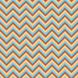 Seamless chevron pattern with light blue brown and pink lines. Vector illustration.  Background for dress, manufacturing Stock Images