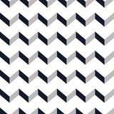 Seamless chevron  pattern. Monochrome zig zag on white background. Royalty Free Stock Image