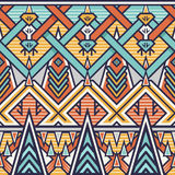 Seamless Chevron Pattern for Textile Design Stock Photo