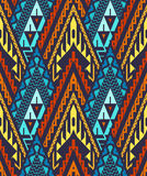 Seamless Chevron Pattern with Triangles Stock Photography