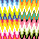 Seamless Chevron sets. With colorful Royalty Free Stock Photography