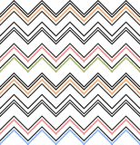Seamless chevron texture. Colored zig-zag pattern on white Stock Image