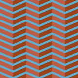 Seamless chevron vector pattern. Colorful brick red zig zag on sky blue background. Stock Photos