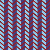 Seamless chevron vector pattern. Colorful purple zig zag on bright red background. Geometric layout. Gift wrapping paper. Bed sheets and interior Royalty Free Stock Images