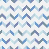 Seamless chevron vector pattern. Colorful zig zag in blue colors on white background. Geometric layout. Gift wrapping paper. Bed sheets and interior Stock Images