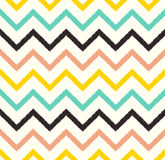 Seamless chevron wave pattern. Seamless chevron wave fabric pattern stock illustration