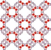 Seamless chic ornamental poppy pattern royalty free illustration