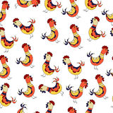 Seamless chicken pattern. Vector hand drawn illustration Royalty Free Stock Photos