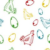 Seamless chicken pattern Stock Photography