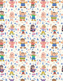 Seamless child pattern Stock Image