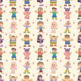 Seamless child pattern. Cartoon vector illustration Royalty Free Stock Image
