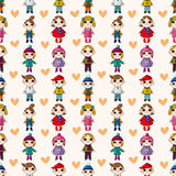 Seamless child pattern Royalty Free Stock Photos