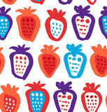 Seamless childish background with berries. Endless fabric texture. Decorative drawing pattern. Stock Photography