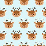 Seamless childish pattern with cute deer. Creative kids texture for fabric, wrapping, textile, wallpaper, apparel vector illustration