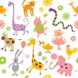 Seamless childlike pattern vector illustration