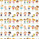 Seamless children Royalty Free Stock Photos