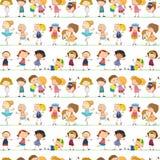 Seamless children Royalty Free Stock Photos