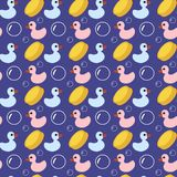 Seamless children bath background Stock Images