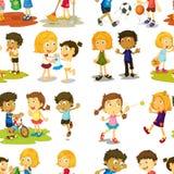 Seamless  children Royalty Free Stock Image