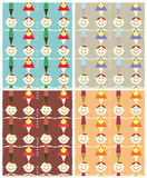 Seamless children pattern illustration. Royalty Free Stock Photo