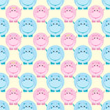 Seamless children pattern vector illustration Royalty Free Stock Image