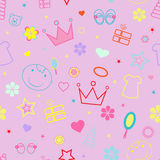 Seamless children pattern vector illustration Royalty Free Stock Images