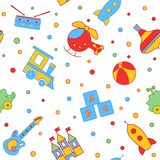 Seamless children's background. Seamless vector illustration. Cute seamless pattern with elements for design Royalty Free Stock Photo