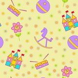 Seamless children's background. Seamless vector illustration. Cute seamless pattern with elements for design Stock Images